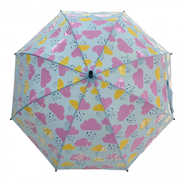 Colour changing Umbrella for Kids - Clouds wet canopy